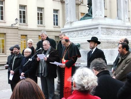 Au nom des liens renforcés entre les différentes religions sur Lyon : Merci !