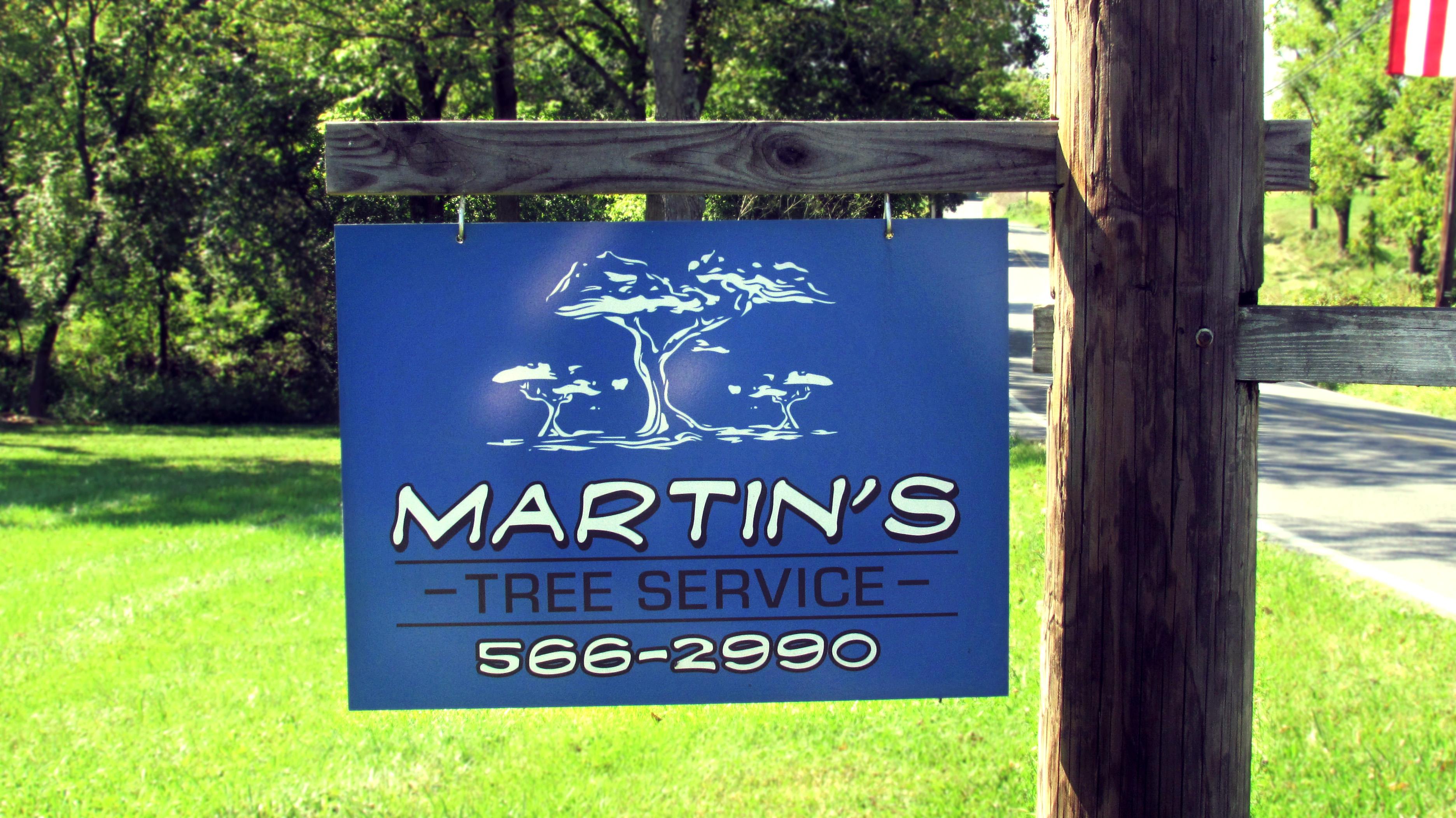 Martin's Tree Service Post Sign