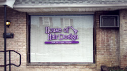 House Of Hair Design Window Decal