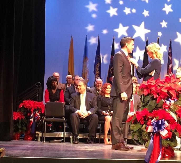 Assemblyman Ryan Peters beng sworn in
