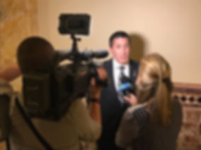 Assemblyman Ryan Peters talking to NJTV