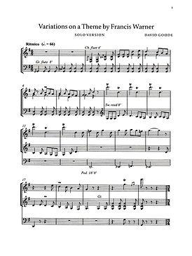 Organ Variations by David Goode