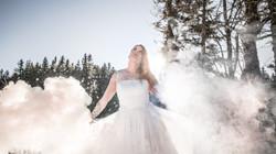 Moody wedding bride
