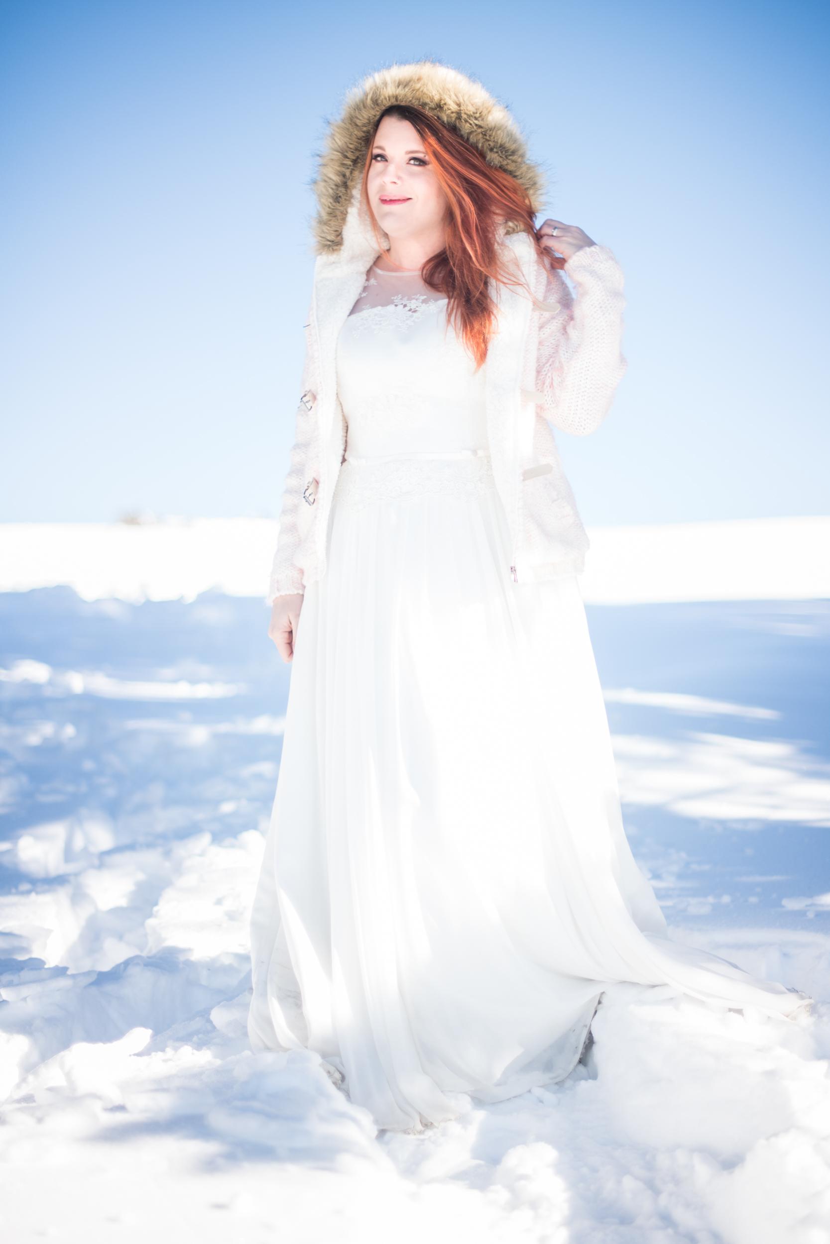 Mariage hiver dans la neige