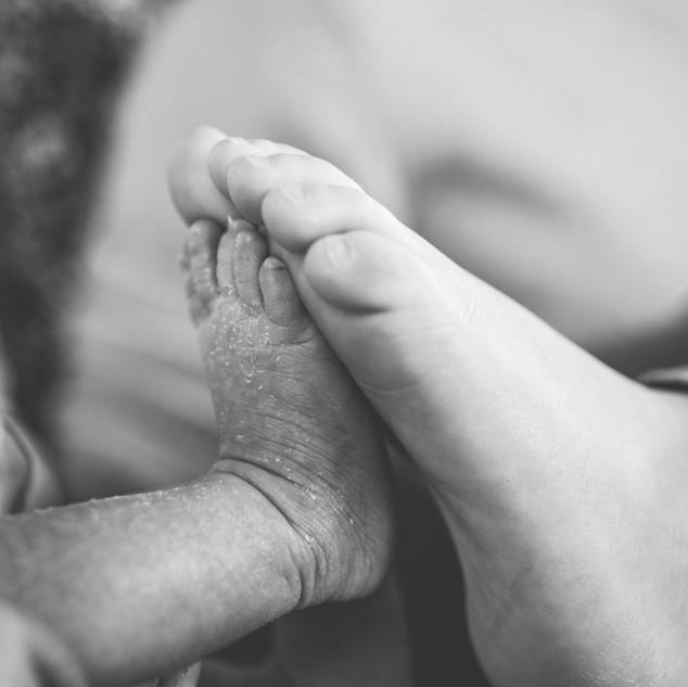 photos de pieds bébé