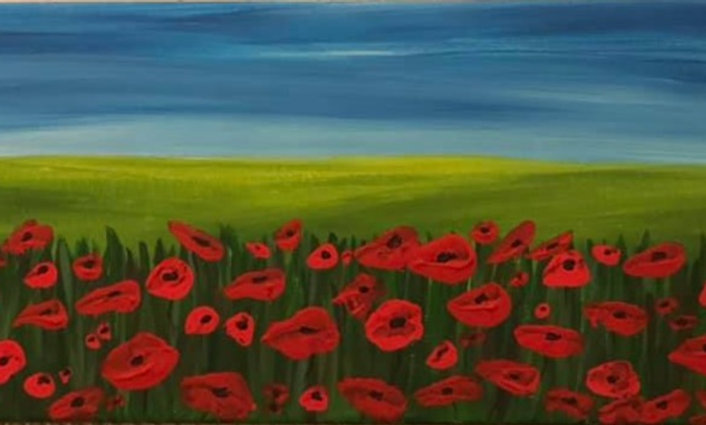 Meadow of poppies - BEST SELLER! (Contemporary style poppies)