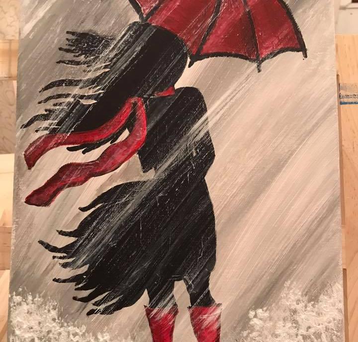 Girl in the rain