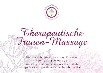 Gutschein Therapeutische Frauen-Massage