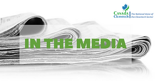 Canadian cleantech in the media (29/09/17) | CanadaCleantech