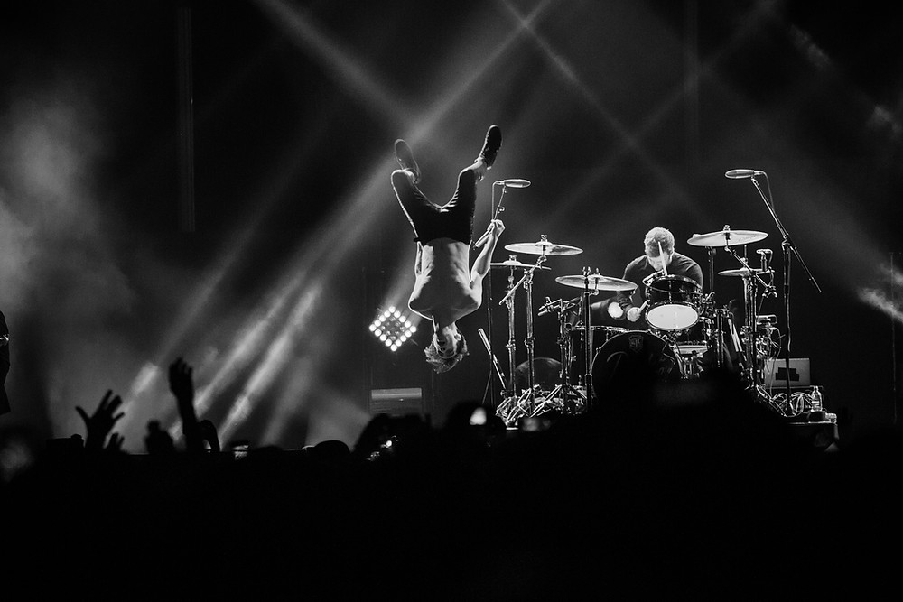 Backflip' Corinne's winning photo from 2017's Music Event Category.