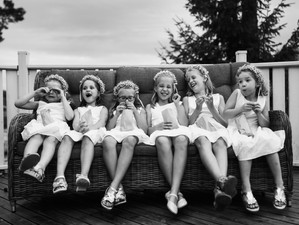 Bridesmaids on a Break by Jetro Staven