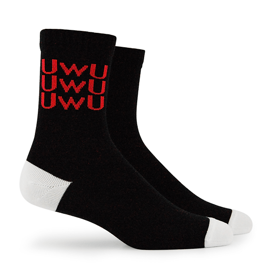 "PL Street Fashion Socks ""UWU"" Crew Lenght"