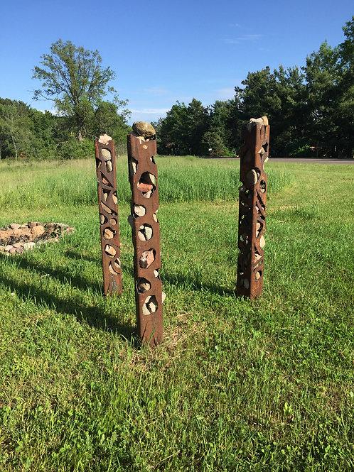 River Rock Garden Columns