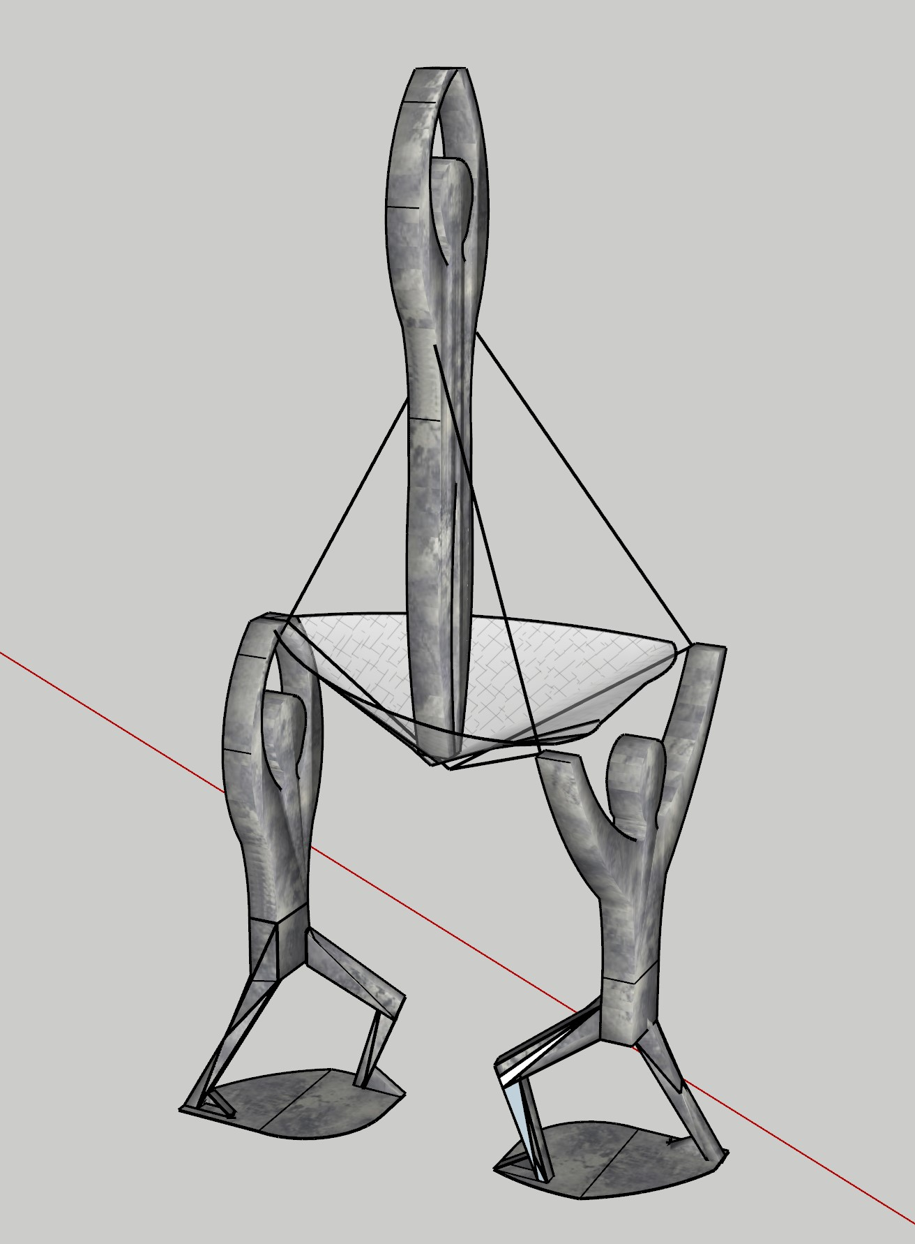 Elevate- a Tensegrity Sculpture