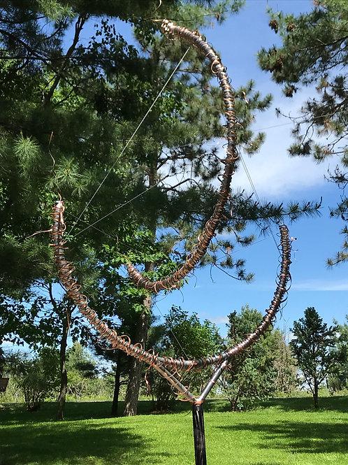 """""""Joy"""", a Tensegrity Yard Sculpture"""