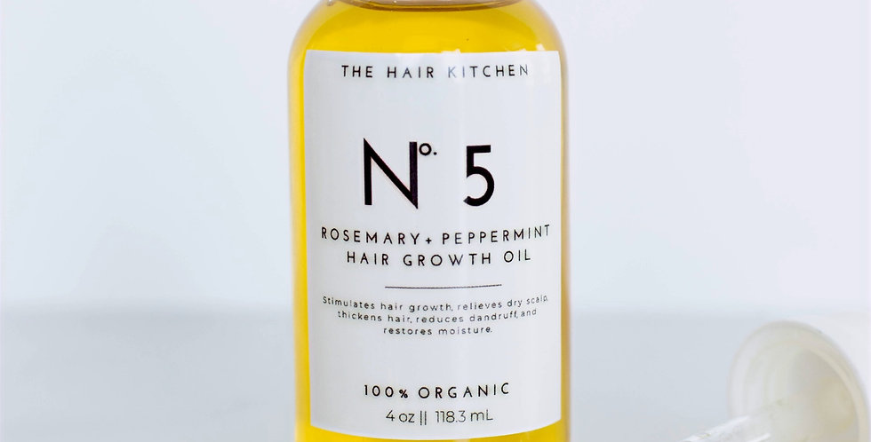 No.5 Rosemary + mint hair growth oil