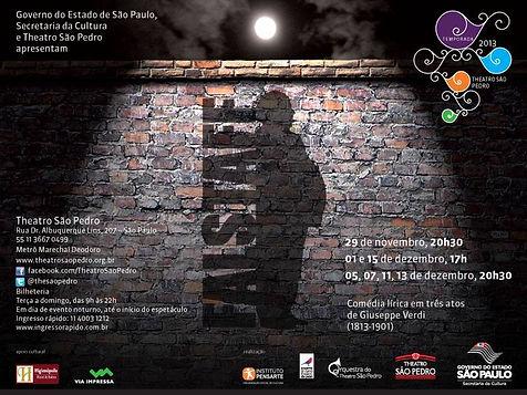 Tenor Luciano Botelho in Verdi's Falstaff promotional banner