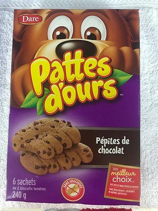 Pattes d'ours pépites de chocolat 240g