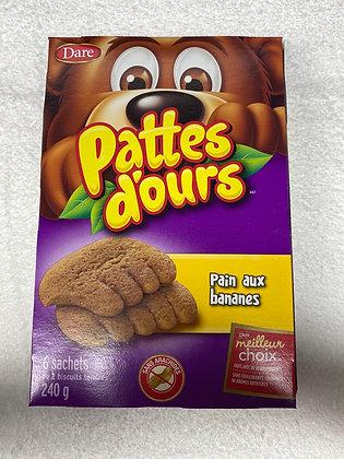 Pattes d'ours pain aux Bananes 6 sachets