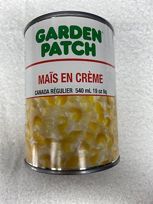 Garden patch maïs en crème 540ml
