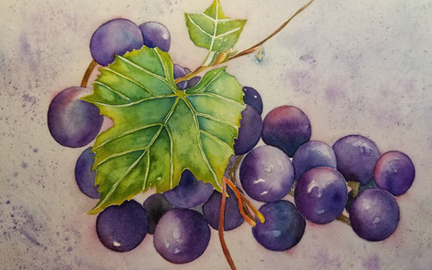 Grapes with leaf