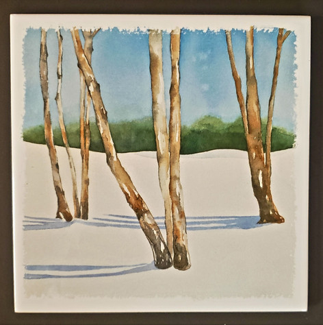 Winter Trees Trivet