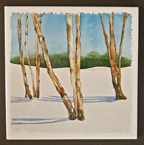 Winter Trees Trivet