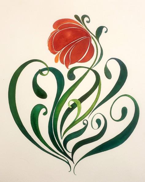 Art Deco flower