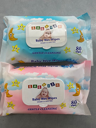 Lingette nettoyante pour bébé 80 wipes