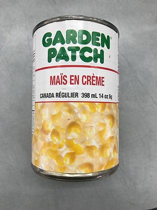 Maïs en crème garden patch 398ml