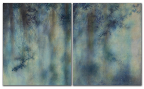 the light of morning curls forth photo encaustic art