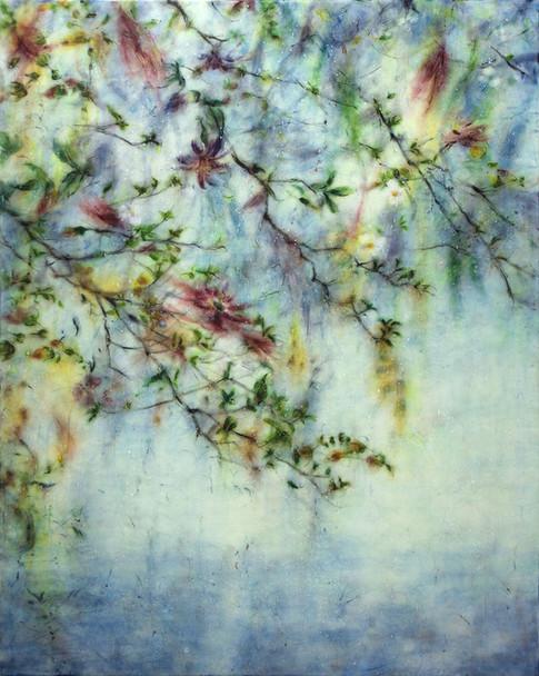 softly falling  photo encaustic art