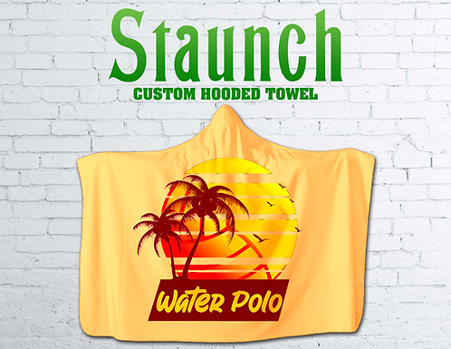 Personalized Hooded Beach Towels   2021   Staunch Water Polo