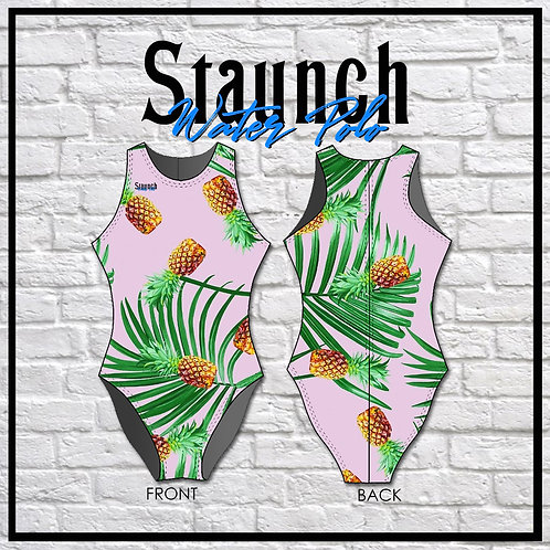 Women's Pineapple Swimsuit One Piece Apparel | Staunch Water Polo