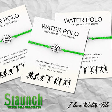 Staunch - Water Polo Card Charm Bracelet