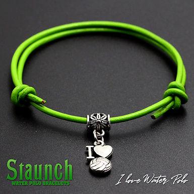 Staunch - I Love Water Polo Charm Bracelet