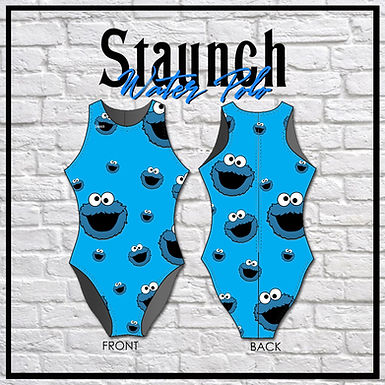 Staunch Cookie Monster - Aqua Blue All Over Print WP Suit