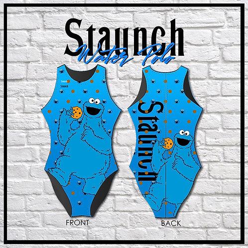 Cookie Monogram Women's One-Piece Swimwear   Staunch Water Polo