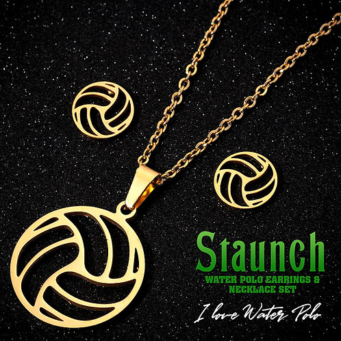 Unique Water Polo Women's Earrings And Necklace Set