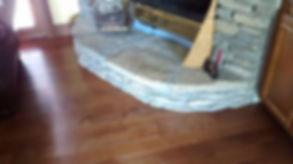 "pre finished hardwood 3/4"" x 3 1/4"". Installed byEleet Flooring"