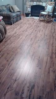 laminate 10mm. Installed by Eleet Flooring