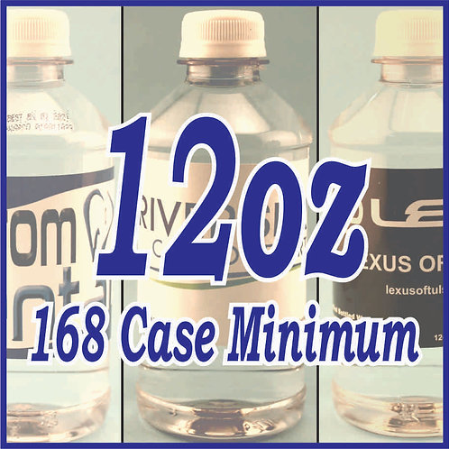 12oz Bottled Water - 2 Pallets (minimum order)