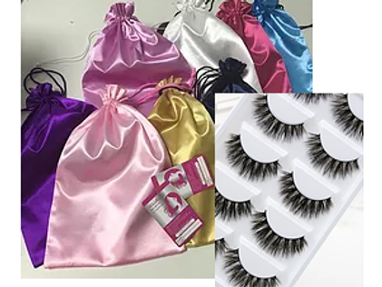 Satin Bags, Tags and Lashes