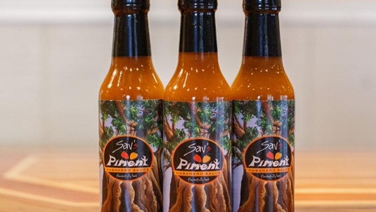 Sav's Piment Habanero Sauce (5 oz. bottle) - 3-count