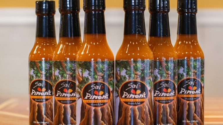 Sav's Piment Habanero Sauce (5 oz. bottle) - 6-count