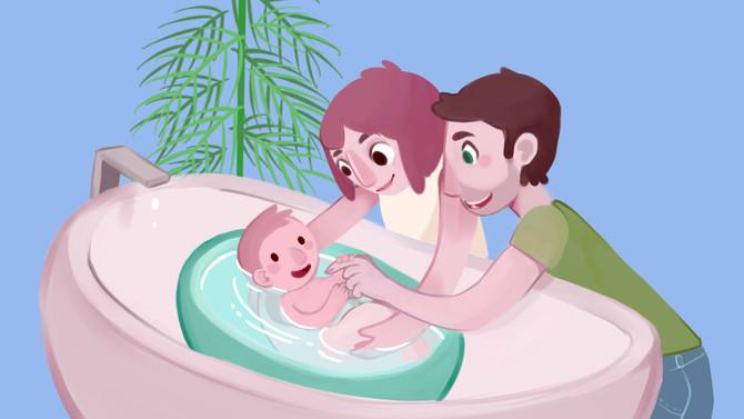 Il bagnetto: igiene e cura della pelle del neonato prematuro