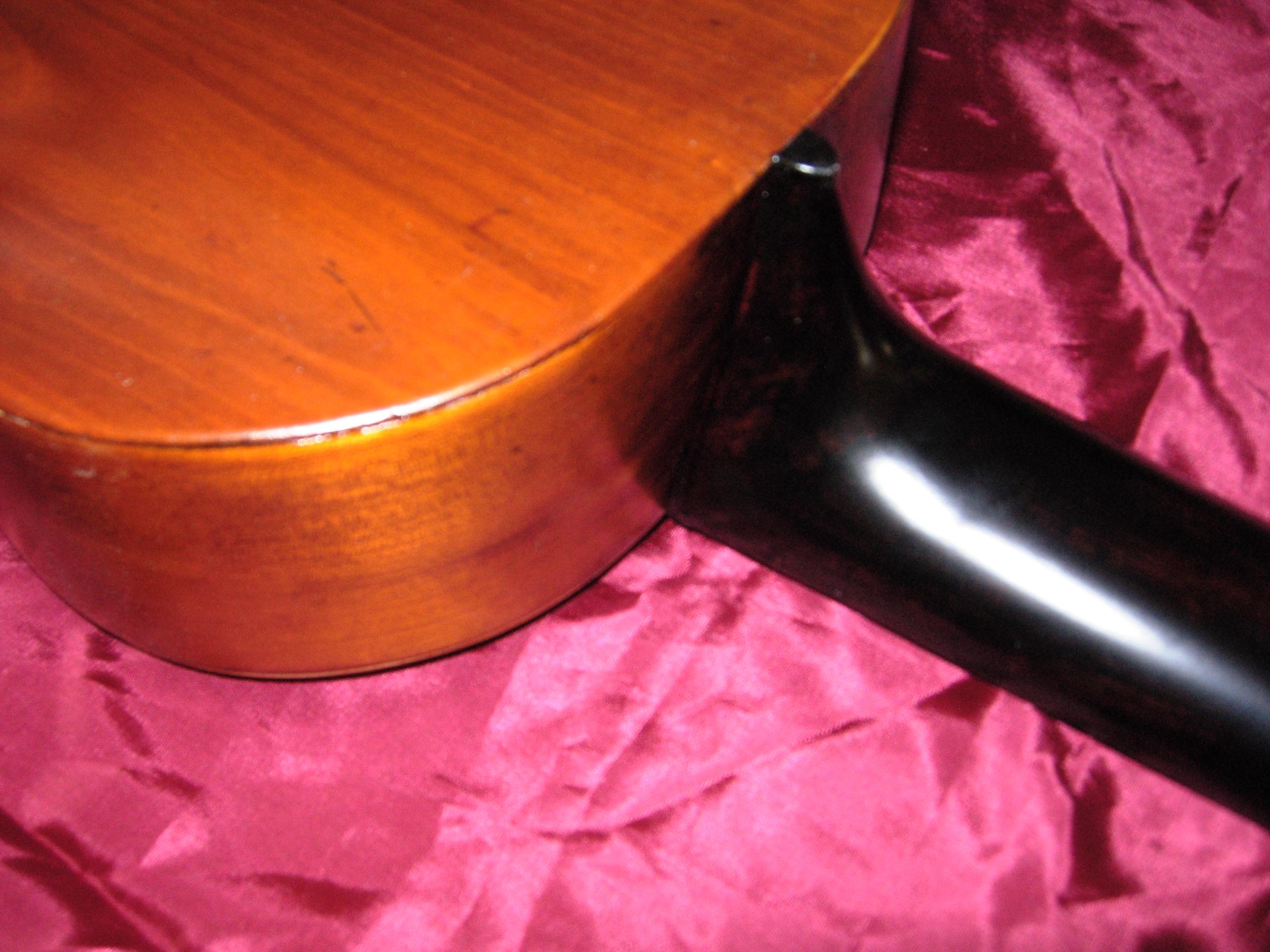 tacco e manico restaurati