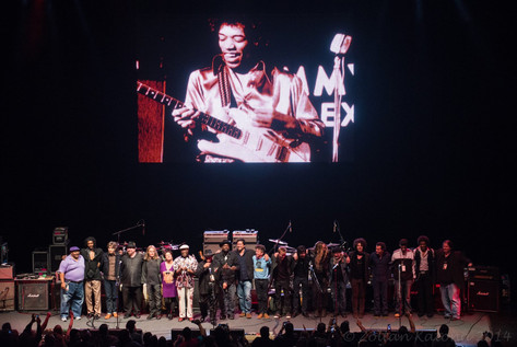 The full cast of Experience Hendrix 2014