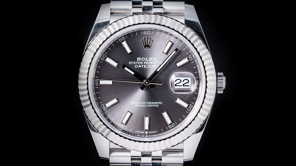 Rolex 41mm Datejust 2020 Rhodium Dial