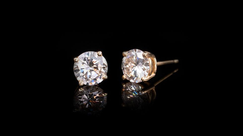 1.4ct 14ct Yellow Gold Diamond Stud Earrings
